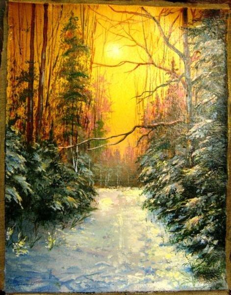 """Схема вышивки  """"Зимнее солнце """": таблица цветов."""