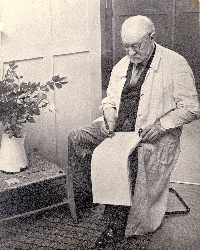 1939. Матисс в своей студии на улице Плант