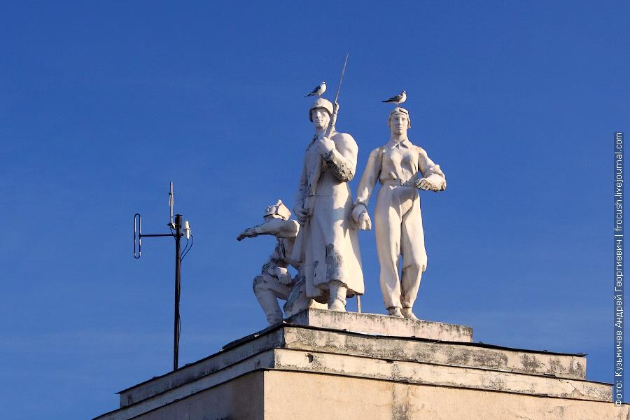 скульптурная группа во втором шлюзе