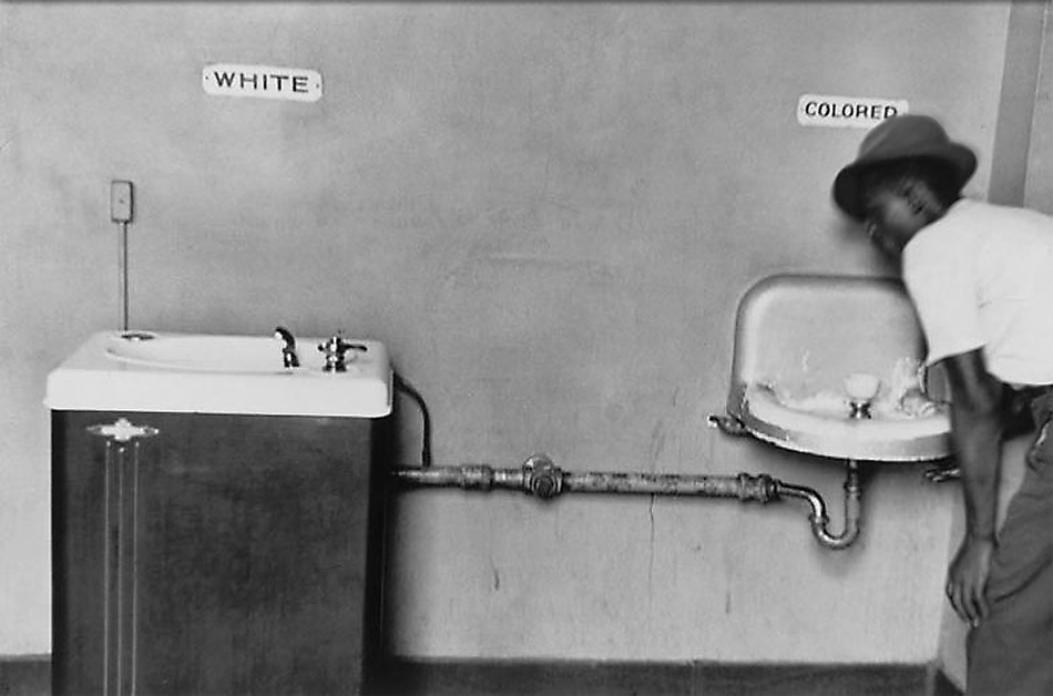 White and colored by Elliott Erwitt, 1950