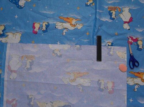 Развивающий коврик своими руками... кроим полоски для окантовки краев готового коврика