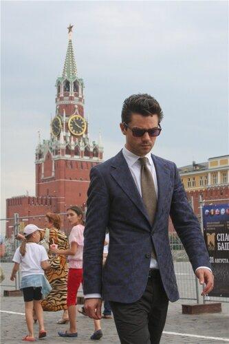 Dominic Cooper in Moscow, Red Square, 2011, Доминик Купер в Москве, 2011, Красная площадь