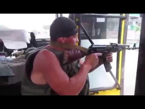 Стрельба из маршрутки во время движения в Славянске