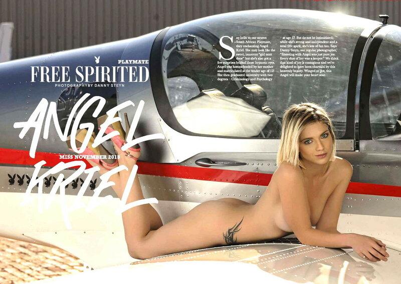 Miss November 2015 South Africa Angel Kriel in Playboy
