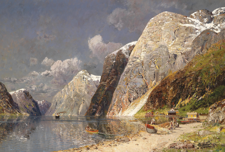 Karl Kaufmann Grosse Fjordlandschaft.