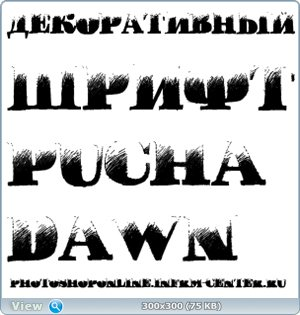 Декоративный шрифт Pucha DAWN Regular