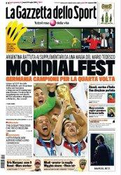 Журнал La Gazzetta dello Sport (14 Luglio 2014)