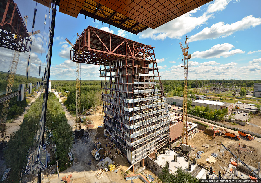 Строительство второй очереди Новосибирского технопарка в Академгородке (2011)
