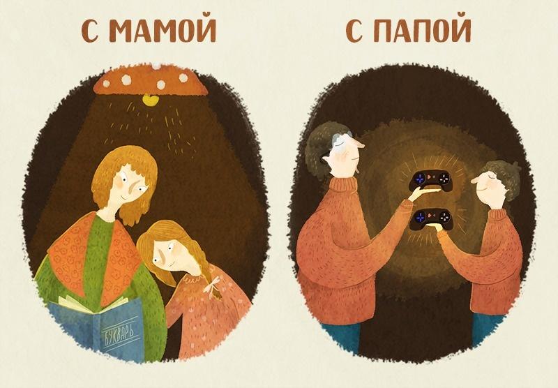 О различиях мамы и папы