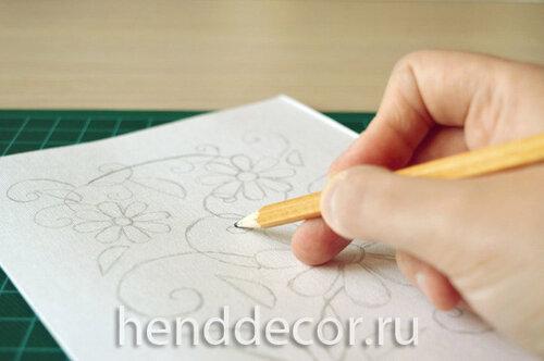 Открытка с цветочным декором