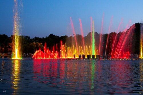 Light Show Fountain in Gorky Park
