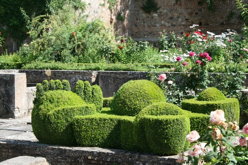Альгамбра, Сады Парталь