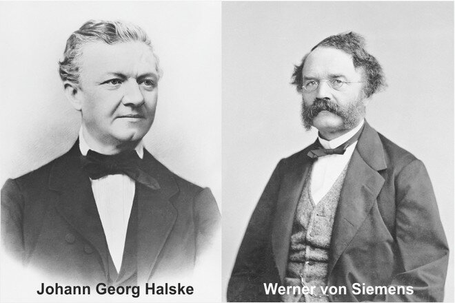 Johann Georg Halske and Werner von Siemens