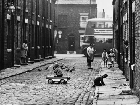 Street Scene - All Saints, Manchester 1964