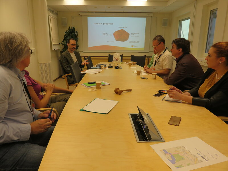 Встреча российских экологических активистов с представителями муниципалитета в Форсмарке (июнь 2016 года)