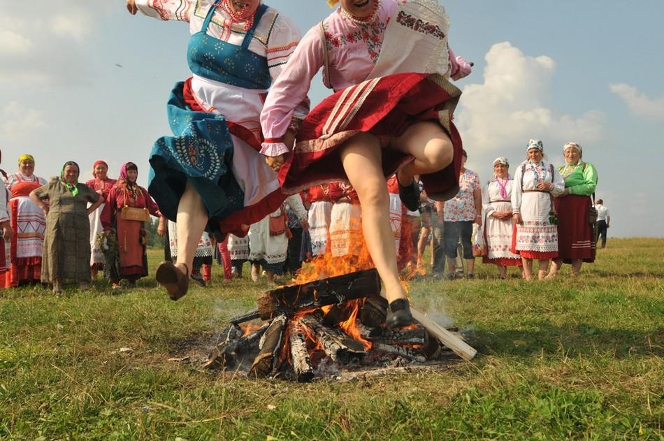 Народный праздник Семик в селе Большая Коча