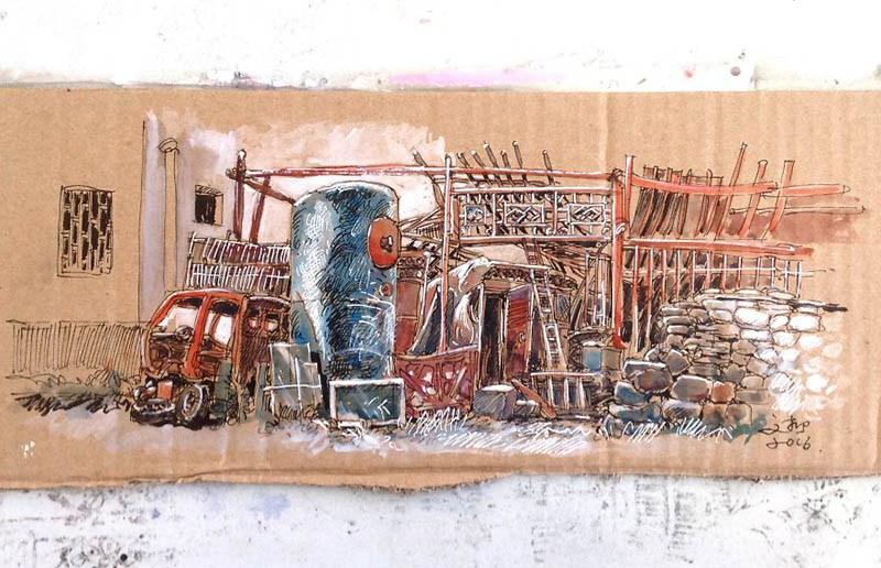Китайский художник создает картины на самом обычном мусоре, который находит на улицах города