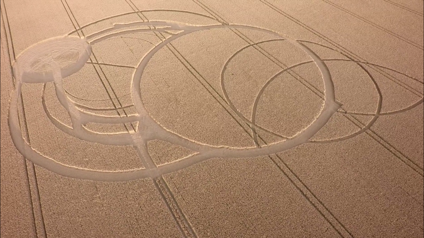 Crop Circle at All Cannings, Wiltshire, UK 28 July 2016