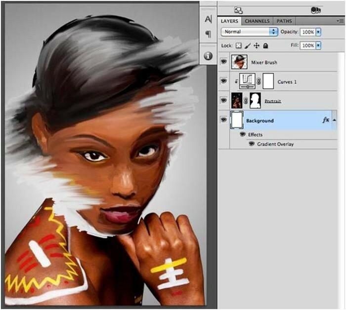 Как сделать в фотошопе эффект нарисованной фотографии