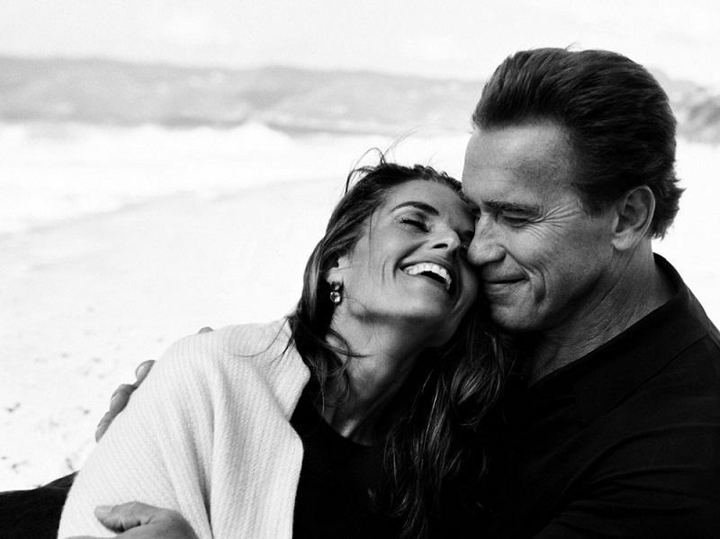 11. Чувства выше крыши: Арнольд Шварценеггер с женой Марией Шрайвер.