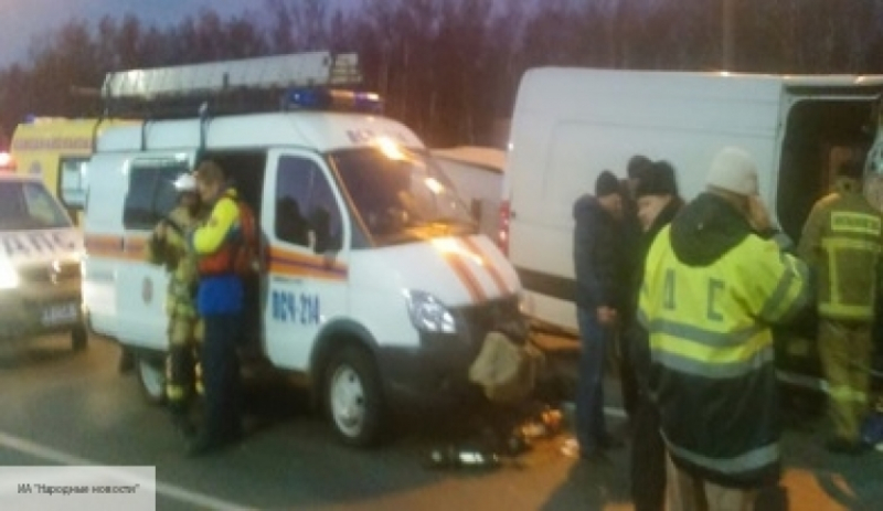 ВДТП под Москвой сучастием автобуса и грузового автомобиля пострадали семь человек