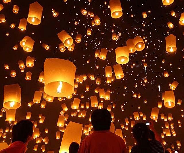 Китайские бумажные фонарики