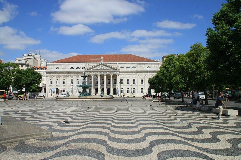 Лиссабон, площадь Росиу (Lisbon, Rossio Square)