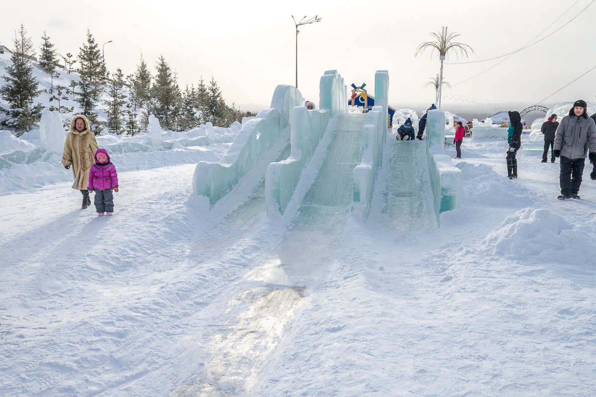 Парк Ватан Уфа зима фото 9