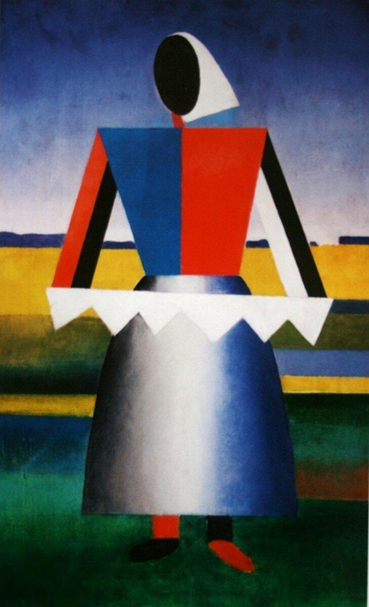 1927-1928. Суетин Николай «Женщина с белой пилой»