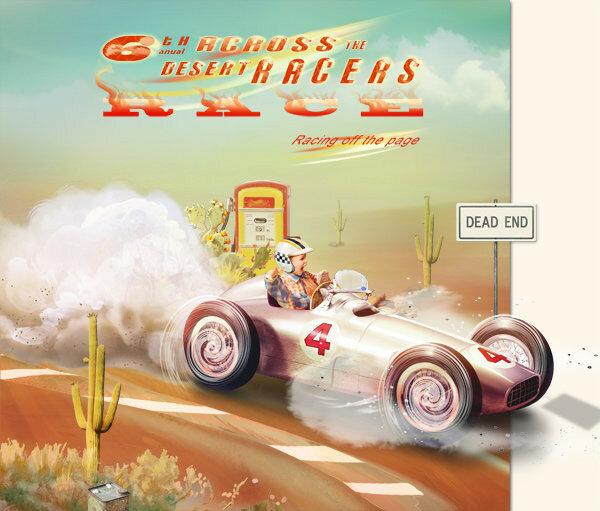 Scrap set  Across The Desert Racers