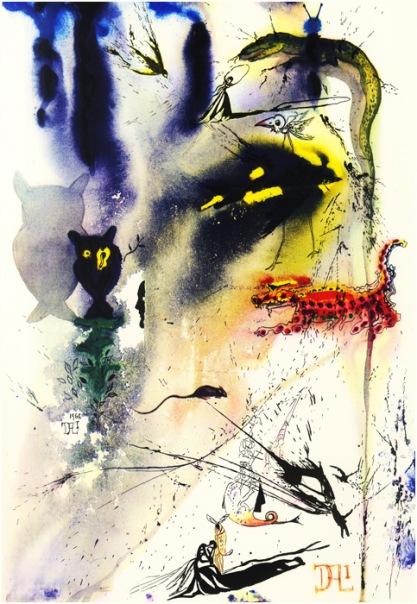 Иллюстрации к Алисе в Стране Чудес Cальвадора Дали