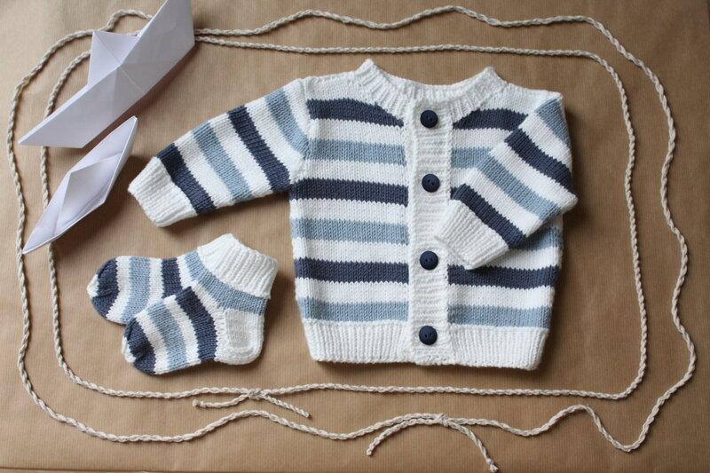 Вязание кофточки для новорожденного мальчика 449