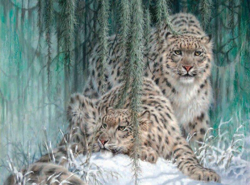 Дикий мир животных  Канзаса. Художник  Larry Fanning