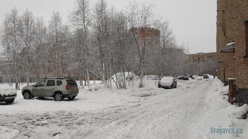 Фото города Инта №6559  Двор (северная сторона дома) Куратова 24 23.04.2014_11:43