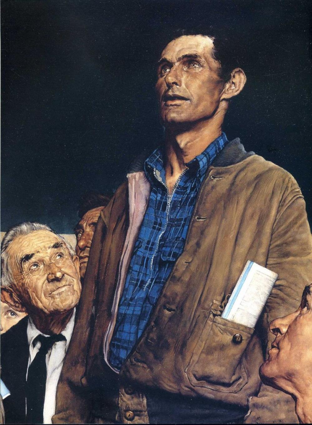 Самая известная работа Роквелла — это серия картин «Четыре свободы», вдохновленные речью Рузвельта о