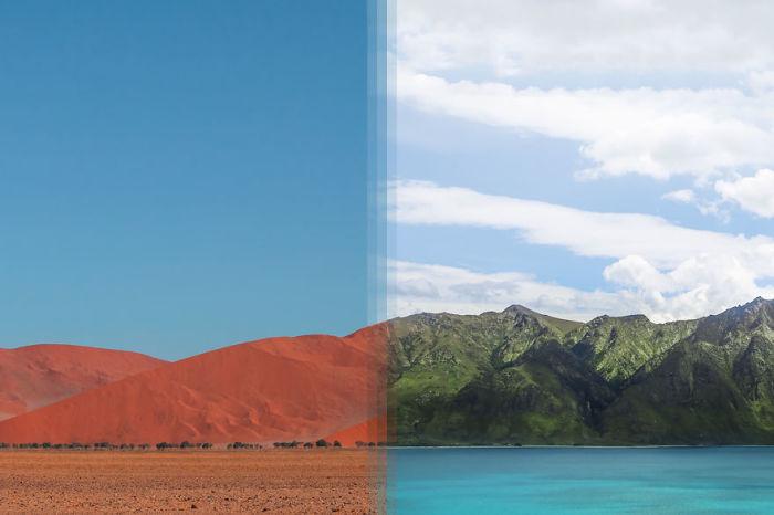 Соссусфлей, Намибия, и Отаго, Новая Зеландия.
