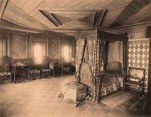 Вид опочивальни в палатах бояр Романовых.