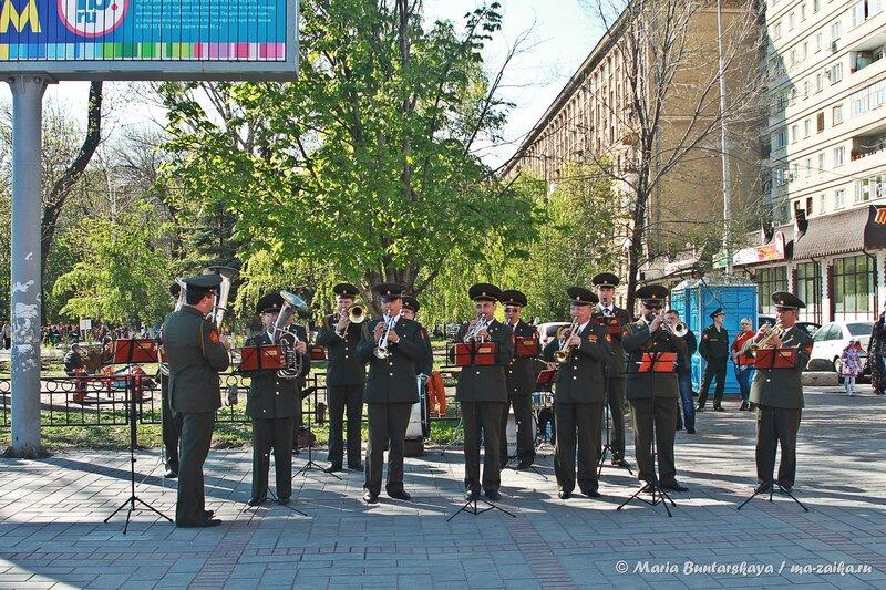 Военный оркестр, Саратов, площадь Кирова, 04 мая 2014 года