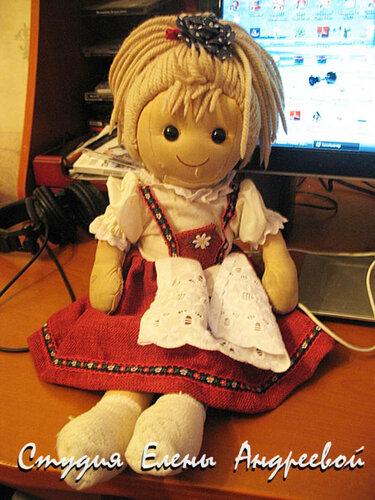 Большая тряпичная кукла мастер класс