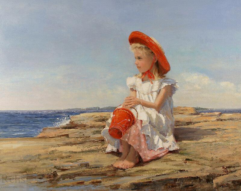 Приколы, открытка с детьми море