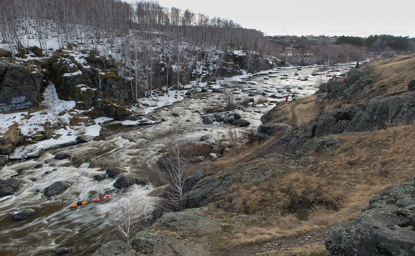 18. Порог Ревун (он же - Буркан) на реке Исеть. Ищите интересные природные места недалеко от Екатеринбурга? Тогда вам нужно ехать в деревню Бекленищева (ISO 50, ФР-24, 22.0, В=0.8 секунды)