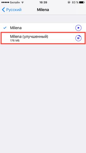 проговорка текста iphone
