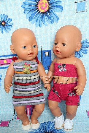 костюм для куклы Baby Born из носков