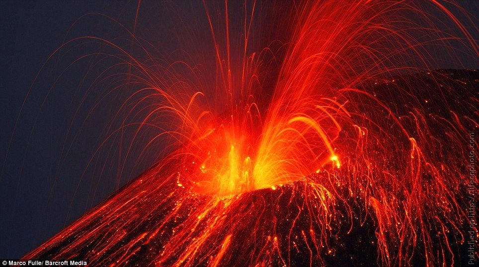 Уникальные фотографии вулканов