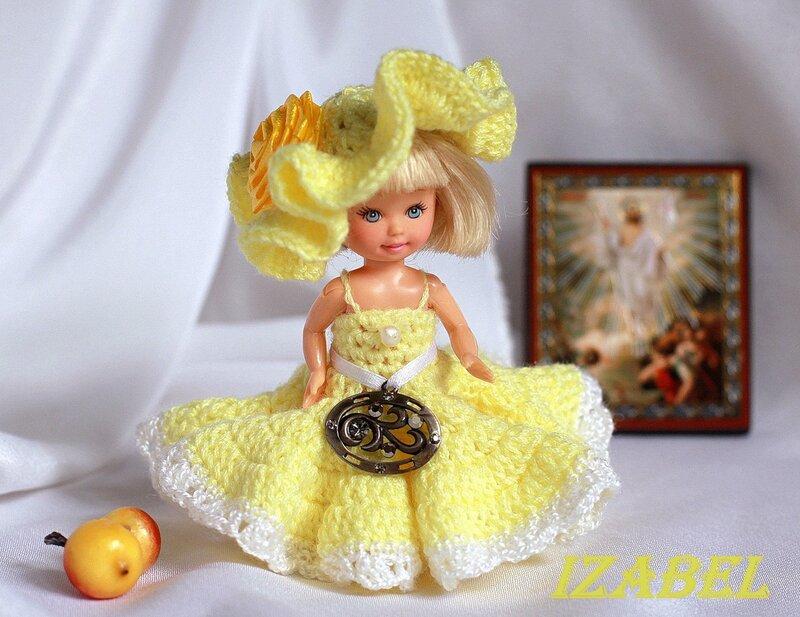 Вязание шляпок куклами