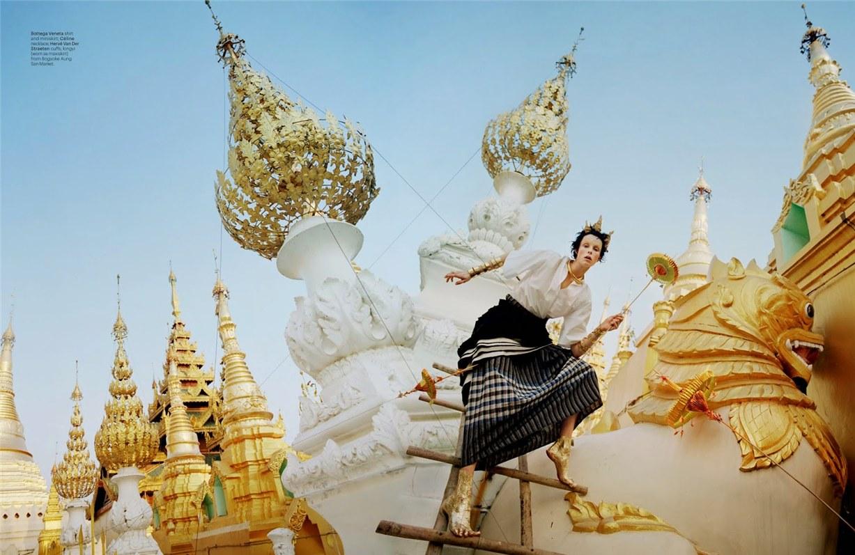 Путешествие к Золотому камню - Эди Кэмпбелл / Edie Campbell by Tim Walker in W Magazine may 2014