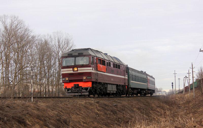 ТЭП70-0127 с поездом Ржев - Торжок