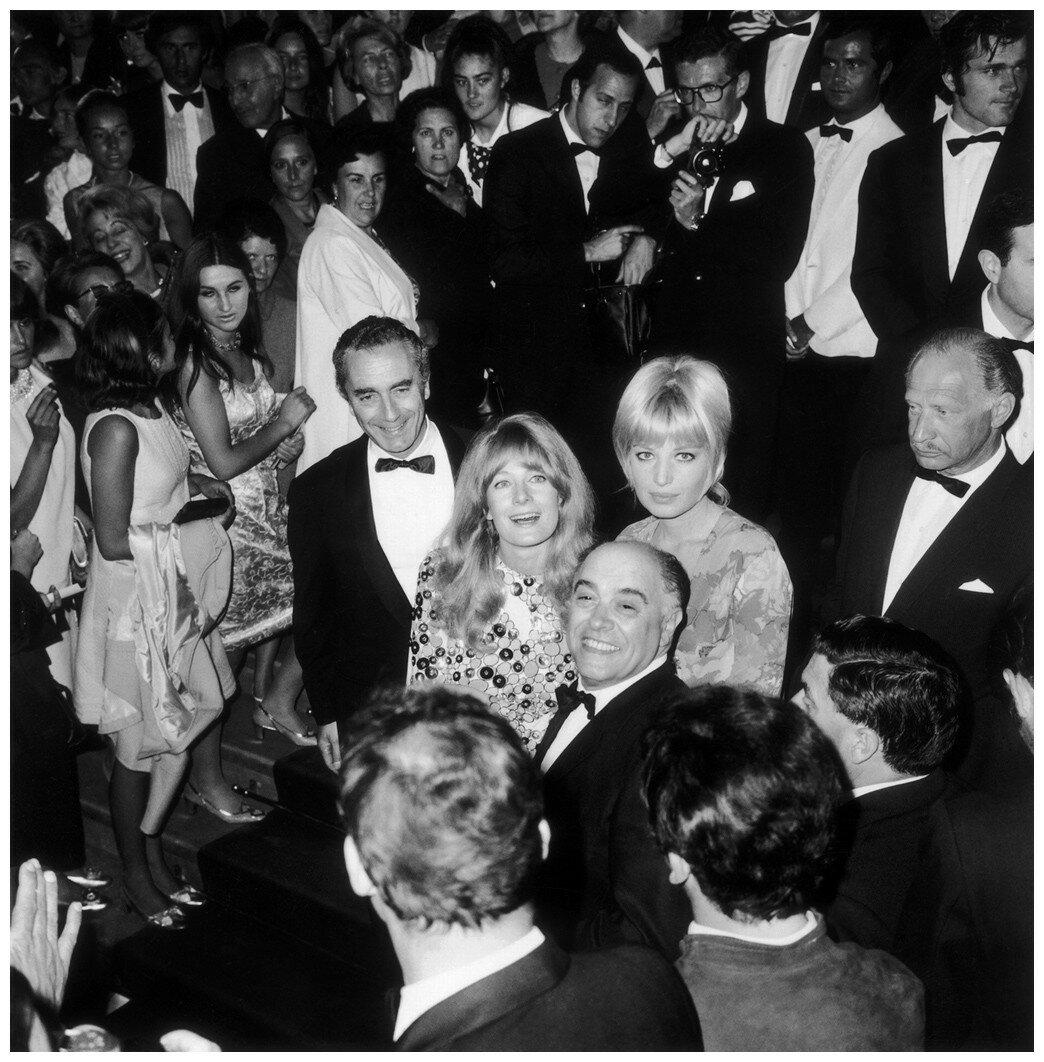 1967. Микеланджело Антониони, Моника Витти и Ванесса Рэгрэйв. Канны