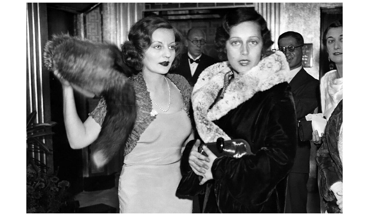1934. Таллула Бэнкхед и Тото Купман на премьере фильма «Частная жизнь Дон Жуана» в Англии