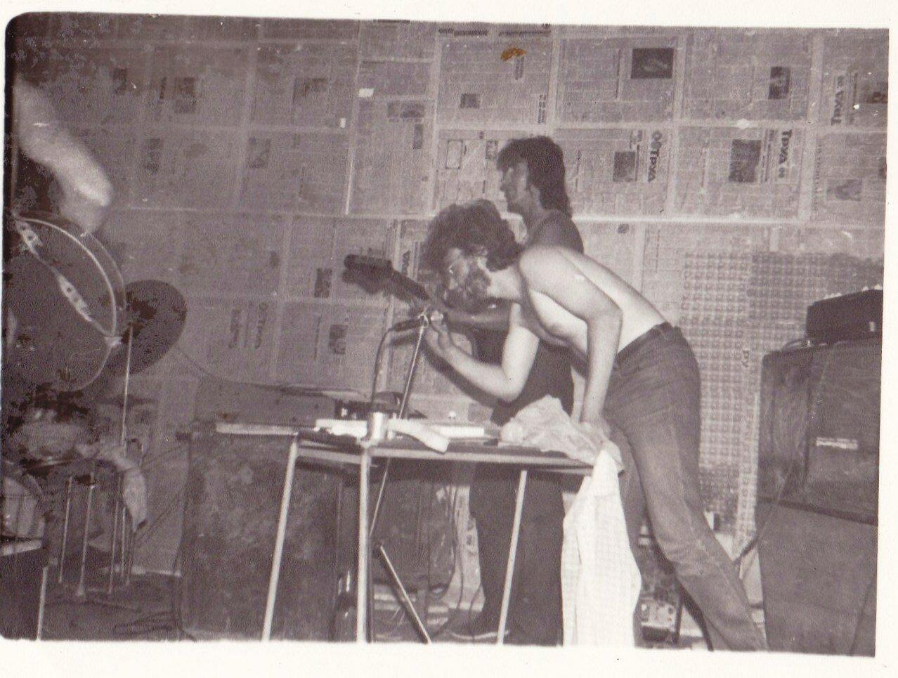 1989-1991. На репетиционной точке группы «Флирт» в Усолье-Сибирском